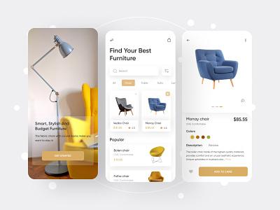 Furniture e-commerce App uiux design app design ios app design ux mobile app e-commerce app furniture app furniture e-commerce app ui