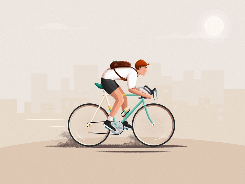 Go to work bottle cloud sun schoolbag sand cap build bike ps illustrator ui