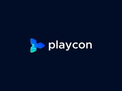 Playcon - Digital Play Logo Design pixel logo chat app appp icon media logo music logo monogram lettermark logo marks playcon onlymehedi digital logo digital logo player play logo play picox logo mark only1mehedi branding