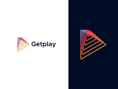 Getplay Logo Design - Modern Logo modern logo logo picox identity play logo letter v video logo gaming logo social connection typography gradient for sale unused app icon media logo motion logo button logo only1mehedi branding