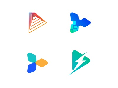 Play Logo Collection play tech technology arrow platform media entertainment audio video music logomark symbol icon logo mark picox only1mehedi logo design logo branding