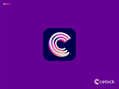 C Modern Logo - Celock Logo desgin logo creative typography design clean 3d mark vector illustration logo designer startup logo elegant logo app logo gradient logo only1mehedi logo presentation logos color app icons lettering logo branding