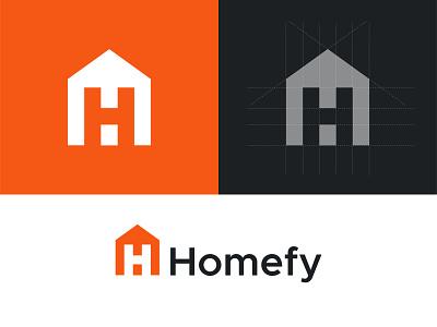 Homefy Logo design h home house h logo house logo modern logo illutration app logo home logo h logo ui illustration design logo mark lettermark logo design picox logo branding only1mehedi icon symbol