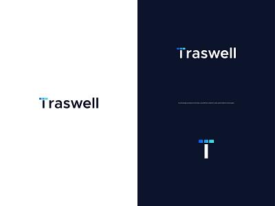 Traswell Logo design - Tech Logo simple creative corporate technology techy logo lettermark logo design logo only1mehedi web design tech logo networking letter gradient illustration app logo modern t logo logo mark brand identity branding