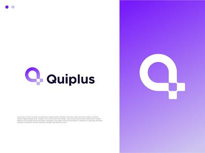 Quiplus Modern Logo Design - Q+plus mehpix logotype q pixel app modern icon ecommerce q plus q logo pixel modern logo logo creator logo maker logo designer design logo mark lettermark logo logo design only1mehedi branding