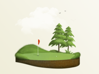 Floating Golf - Green Tree 2