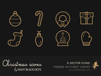 Free christmas icons set with best wishes