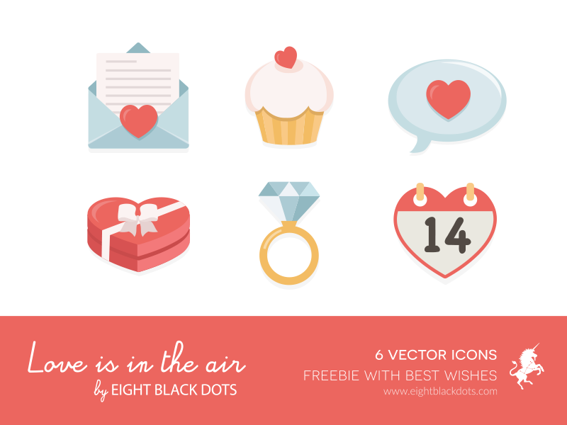 Valentine S Day Freebie By Eight Black Dots Dribbble Dribbble