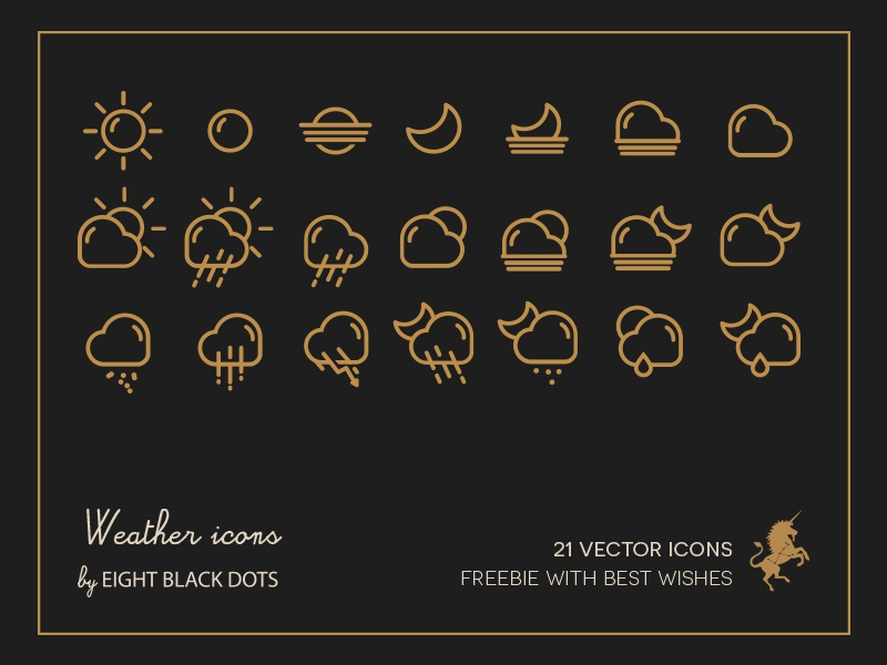 Weather Freebie vector icons eight black dots ebdots freebie free weather