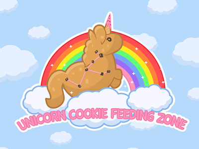 Cookiecorn on rainbow eight black dots ebdots unicorn corn cookie cookiecorn