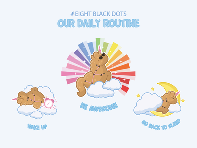 Unicorn Daily Routine awsome eight black dots ebdots unicorn corn cookiecorn daily routine