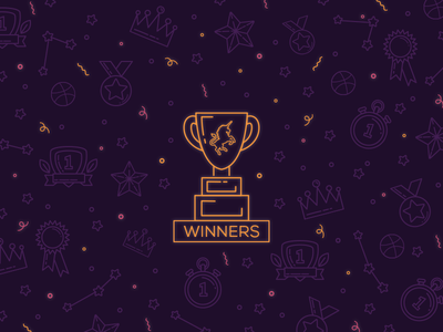 Winners invite dribbble eight black dots ebdots winners win