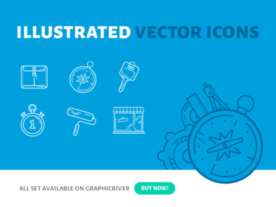 Free Illustrated Vector Icons