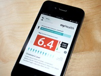 myHealth iPhone - Cholesterol