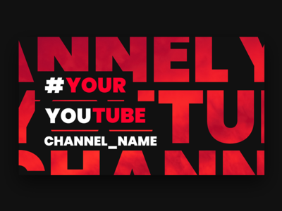 YouTube Channel channel name social media socialmedia social youtuber youtube channel youtube banner youtube logo youtube channel modern design web website banner web design pixflow header banner infinity tool typography title
