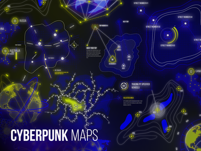 Cyberpunk Maps glow modern design concept head up display hud track earth roadmap road location mapping map maps cyber logo cyber punk cyber cybersport cyberpunk2077 cyberpunk