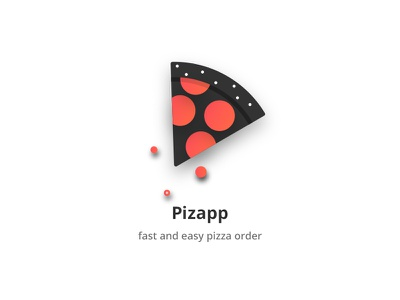 Pizza Logo illustration flat icon food fast-food delivery order pizza logo application app