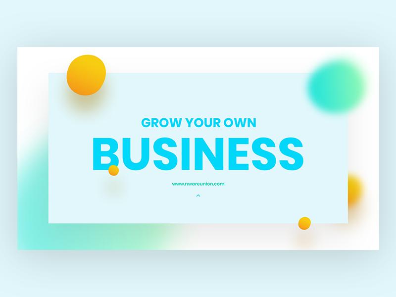 Business promote Banner gradients promote business company web design header web website banner banner title typography pixflow app ux modern design ui infinity tool