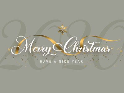 Merry Christmas merrychristmas 2020 new year happy new year christmas party christmas xmas party xmas flyer xmas snowflake golden ribbon ribbon gold modern design header title banner typography