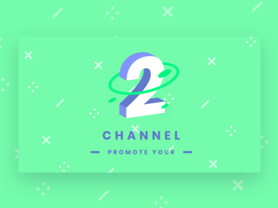 Channel 2 Banner logo reveal logo intro web web design pattern background youtube promote chennel 2 title modern design header infinity tool banner typography