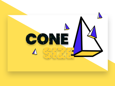 Abstract Banner concept yellow shapes pattern background cone website banner web branding modern design header infinity tool banner typography title