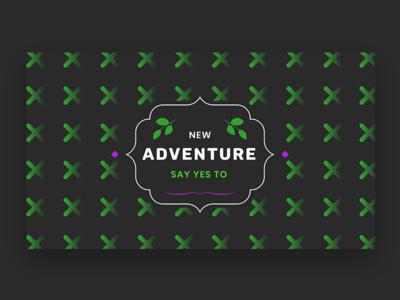 New Adventure lable badge leaf retro vintage adventure texture pattern wine label wine web logo illustration branding modern design infinity tool header banner title typography