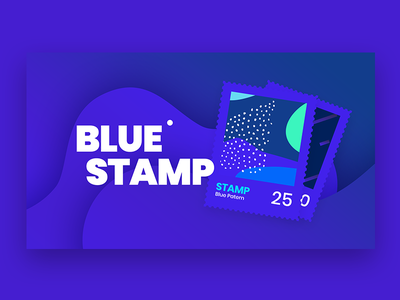 Blue Stamp texture gradient blue pattern background stamp web modern design logo branding infinity tool header banner title typography