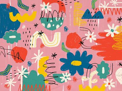 Pinky Funky hasniraudini illustration digital art pattern illustration pattern design pattern designer pattern artist graphic design pattern art digital pattern abstract pattern pattern