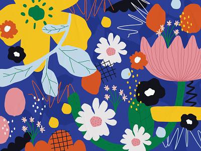 Bloom Bloom in the Sky hasniraudini flower illustration illustration art illustration design pattern design pattern designer pattern artist design illustration digital art graphic design digital pattern pattern art abstract pattern pattern