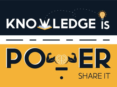Knowledge is power Share it illustration designer share it branding logo graphic design design knowledge power