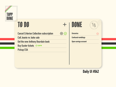 Daily UI #042 dailyui042 daily ui 042 to do todo to do list design ui dailyuichallenge daily ui dailyui