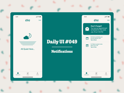 Daily UI #049 notification screen notifications daily ui 049 dailyui049 dailyuichallenge daily ui dailyui