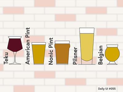 Daily UI #055 dailyui055 daily ui 055 beer glass beer icons icon set daily ui dailyui