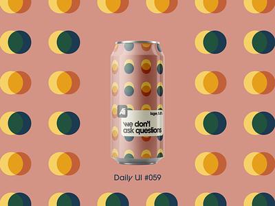 Daily UI #059 dailyui059 daily ui 059 can design background background design branding dailyuichallenge daily ui dailyui
