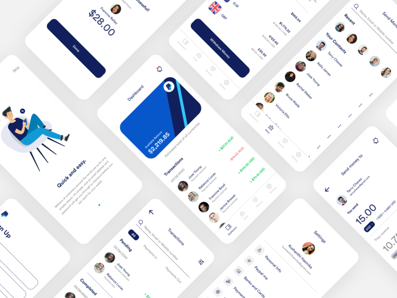 PayPal App Redesign dashboard ui behance mockup userinterface clean minimal xd design adobexd finance app fintech payment app ios app design app design mobile app mobile ui ux ui concept redesign paypal