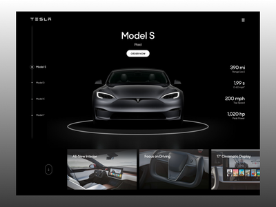 Tesla Homepage Concept car ui automobile automotive model s user interface design ux ui car webdesign web landing page homepage tesla