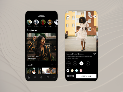 Almost Famous- E-commerce Fashion App Concept concept design app concept fashion e-commerce dark mode app design mobile app ios user interface ux ui