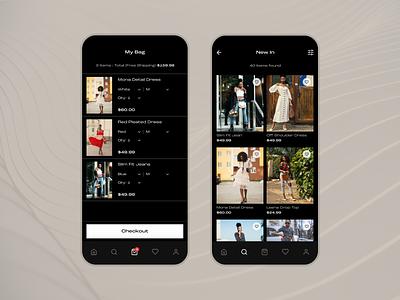 Almost Famous- E-commerce Fashion App Concept concept design dark mode fashion app fashion app concept ios app design e-commerce user interface ux ui
