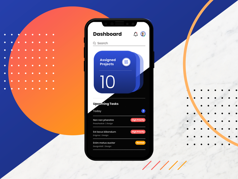 Project Management App Dashboard adobexd mobile ui mobile app dashboard ui dashboard project management clean minimal xd adobe ux ui