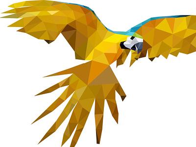 Parrot Low-Poly Design lowpoly3d lowpolygon lowpolyart lowpoly parrot