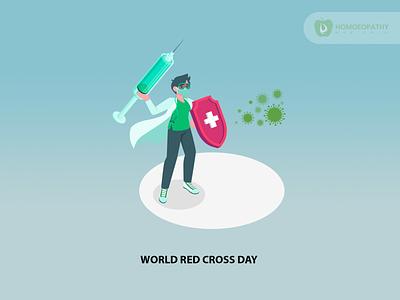 World Red Cross Day social media design branding illustrator illustration vector logo design