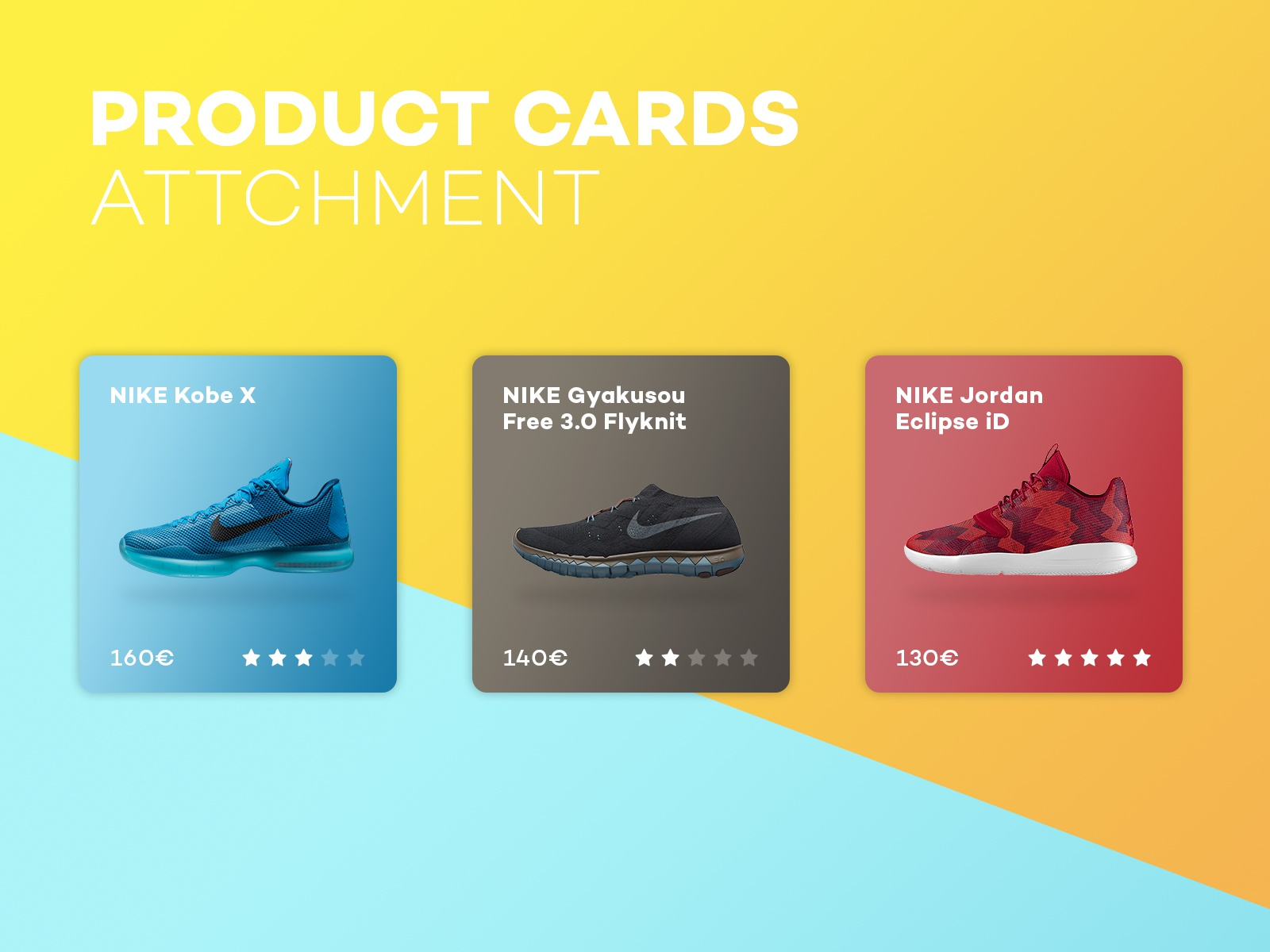 Products cards visual