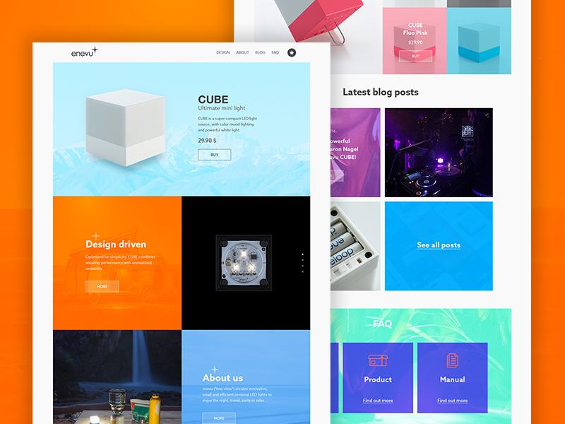 Enevu — Homepage Concept homepage simple ui layout concept enevu website personal