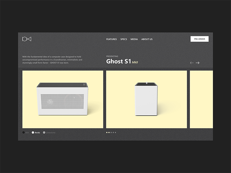 GHOST S1 MkII — Product page product minimal web clean