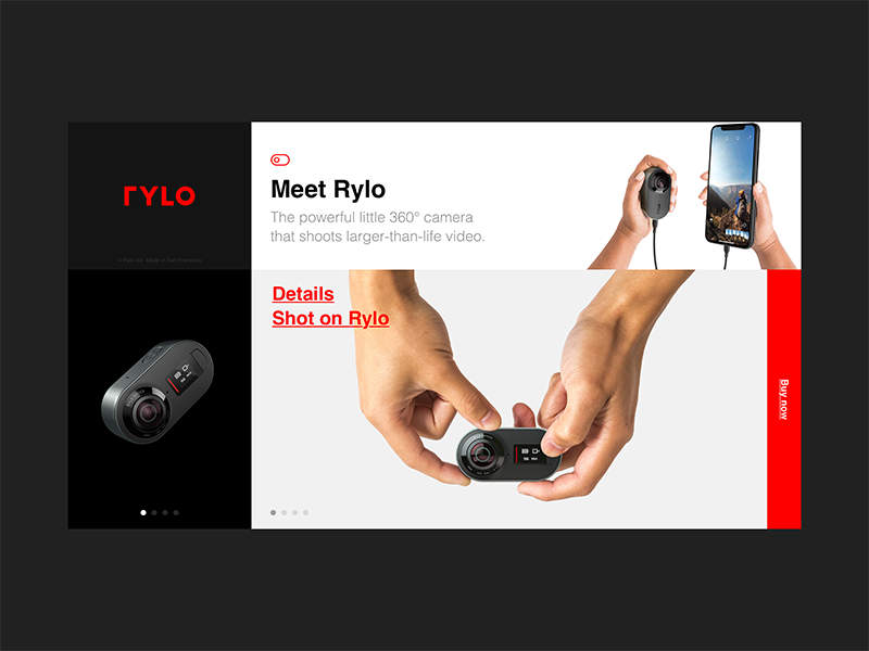 Rylo — Product page product minimal web clean