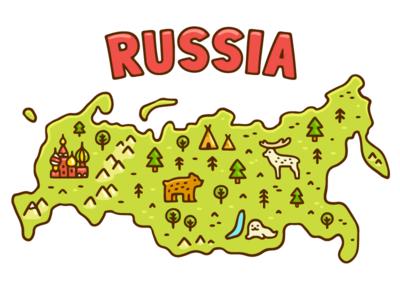 Russia map by Irina Mir Dribbble