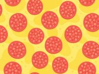 Pepperoni Pizza Pattern