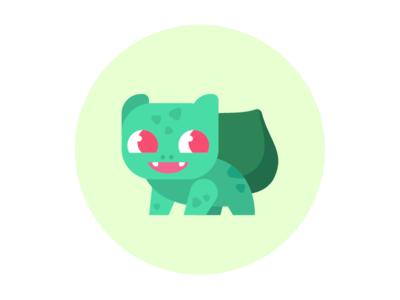 Bulbasaur illustration icon vector cartoon flat bulbasaur pokemon