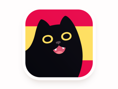 ConjuGato cartoon design character logo face illustration vector cute app spanish black cat cat icon