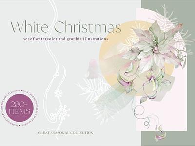 White Christmas ux vector logo motion graphics 3d animation ui icon illustrator graphic design design illustration branding
